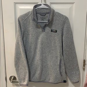 LL Bean women's sweater fleece pullover